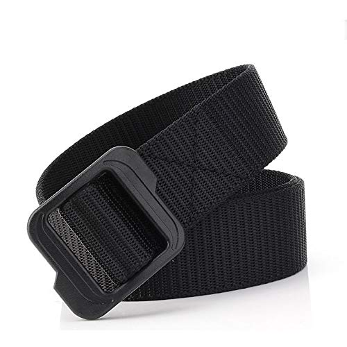 Amazing Deal LEADALLWAY Nylon Webbing Waist Belt Tactical Rigger Belt… (Black 1, L(Waist 42''-46''...