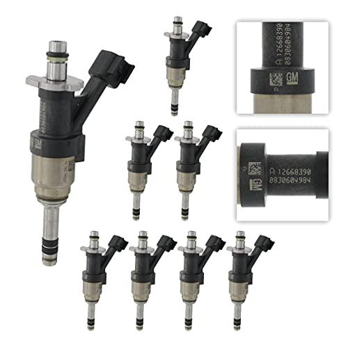 GM 12668390 Original Equipment Nominal Flow Direct Fuel Injector Set (8)