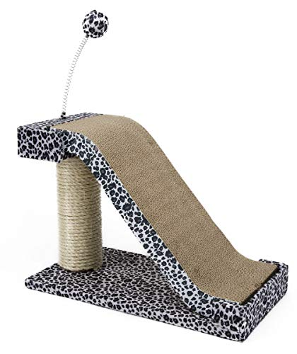 Penn Plax Cat Scratching Post Pad Toy Fun Leopard Print