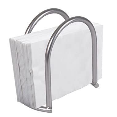 Home Basics Napkin Holder, Satin Nickel Simplicity Collection
