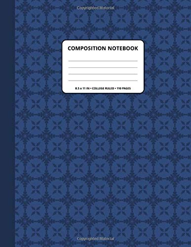 Composition Notebook: Decoration 323 Pattern Background and Bunting Spine Cover ● 8.5x11 Inch ● College Ruled ● 110 Blank Lined Pages ● Matte Softcover ● For Writing, Taking notes.