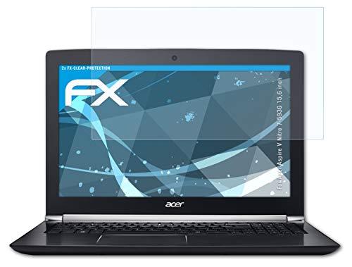 atFolix Schutzfolie kompatibel mit Acer Aspire V Nitro 7-593G 15,6 inch Folie, ultraklare FX Bildschirmschutzfolie (2X)