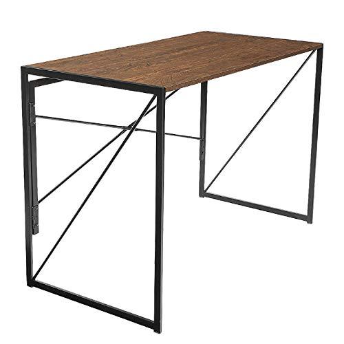 Escritorio de computadora Mesa de escritorio de oficina Diseño Fladable Fácil Montaje X Estructura de forma para oficina en casa para el dormitorio de oficina