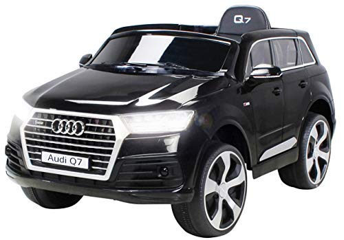 Actionbikes Motors Kinder Elektroauto Audi Q7 4M Highdoor - Lizenziert - 2 x 45 Watt Motor - Fernbedienung - Elektro Auto für Kinder ab 3 Jahre (Highdoor Schwarz)