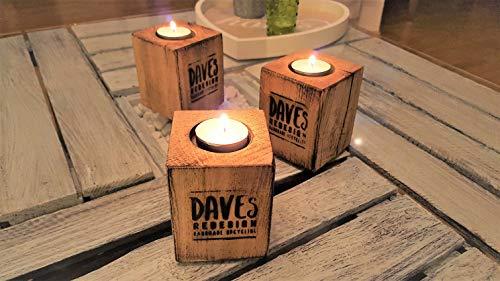 Teelichthalter Set aus Holz Kerzenständer aus Buchenholz Windlicht aus Palettenklotz Palettenmöbel Teelicht Kerzenlicht