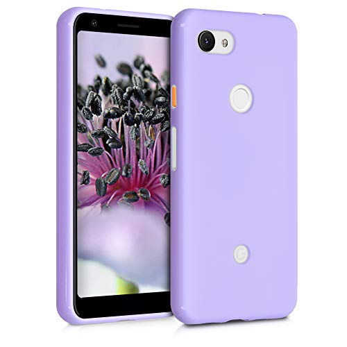 kwmobile TPU Silicone Case for Google Pixel 3a - Soft Flexible Shock Absorbent Protective Phone Cover - Lavender