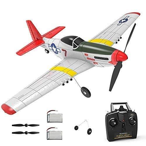 WGFGXQ Avión de Control Remoto de 4 Canales Avión RC Juguetes para niños con Stunt Fighter One Key Acrobático y One Key Función de Giro en U para Adultos y niños