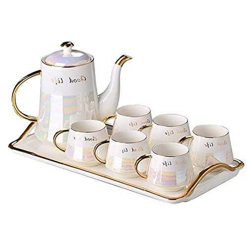 Porcelain Tea Set For Adults Coffee Cup Set Afternoon Tea Set Coffee Mugs Ceramic Teapot Tea Tray For Home Office Wedding