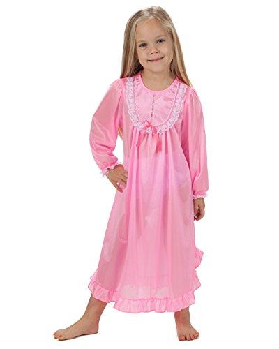 Laura Dare Baby Girls Bright Pink Long Sleeve PJ Nightgown, 09m
