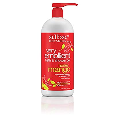 Alba Botanica Very Emollient Honey Mango Bath & Shower Gel, 32 oz.