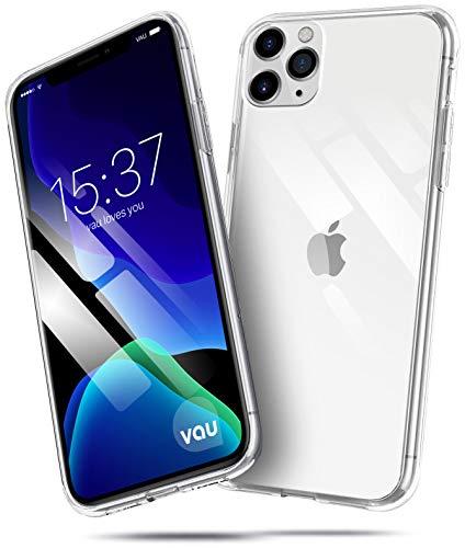 vau Hülle passend für Apple iPhone 11 Pro (5.8) – SoftGrip transparent weiches Silikon-Case Handyhülle dünn durchsichtig Clear (OLED 2019)