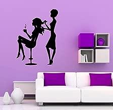 Hair Beauty Salon Wall Decal Vinyl Sticker Hairstyle Housewares Art Wall Removable Decor (3hsl)