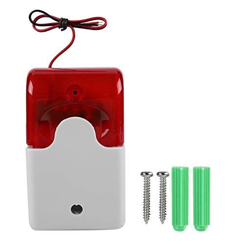 Schulzeit Light Sound Sirene, feuerfeste Bright Wired Strobe Sirene, langlebiges rotes Haussicherheitssystem für den Hausschutz Brandschutzsystem im öffentlichen Bereich
