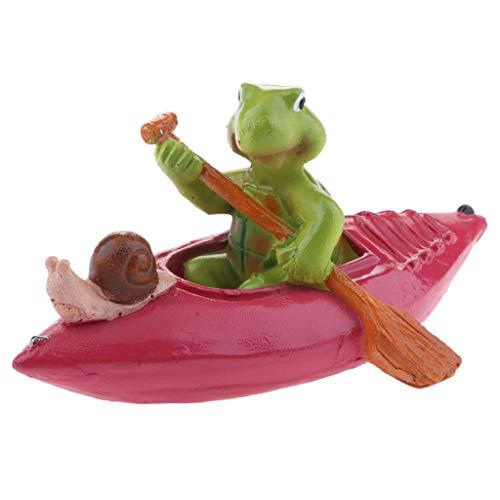 Homyl Schwan schwimmend Dekoschwan Schwimmfigur, Ideal für Garten Teich Rasen Deko Schwimmfigur Teichdeko der Hingucker im Teich - 8# Rot Floß Schildkröte