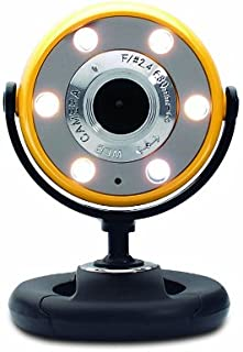 Quick 1.3MP Webcam with Night Vision (Yellow)