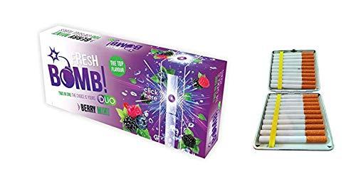 Fresh Bomb 500 Filterhülsen Berry Mint (Purple) Click Hülsen mit Aromakapsel 5 Boxen inkl. Gratis Etui