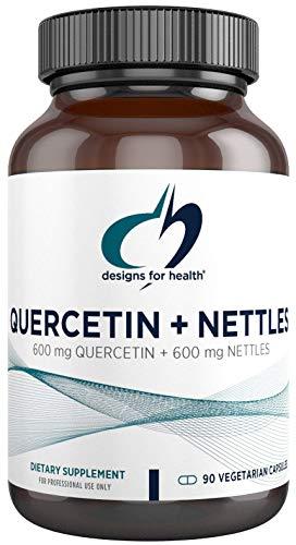 Designs for Health Quercetin + Nettles Capsules - Flavonoid + Stinging Nettle Herbal Supplement - Immune Support - Non-GMO, Vegetarian + Gluten Free (90 Capsules)