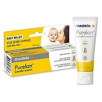 Medela Lanolin Nipple Cream for Breastfeeding, 100% All Natural Single Ingredient, New Purelan, 1.3 Ounce