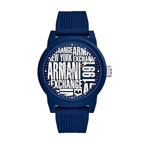 Emporio Armani Herren Analog Quarz Smart Watch Armbanduhr mit Silikon Armband AX1444
