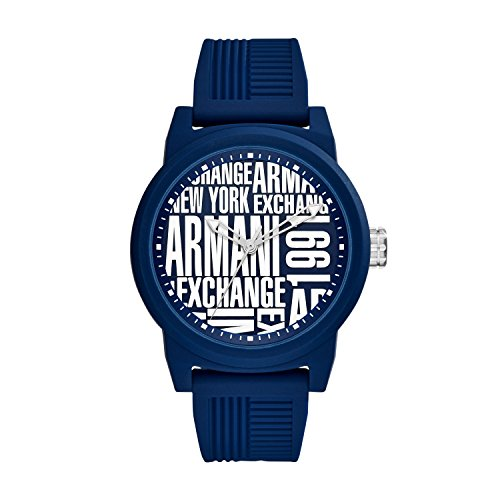 Armani Exchange Reloj Analógico para Hombre de Cuarzo con Correa en Silicona AX1444