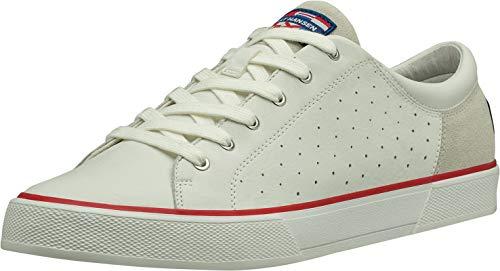 Helly Hansen Herren Copenhagen Leather Shoe 115 Sneaker, Off White/Alert Red/Li, 46 EU