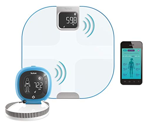 Tefal Body Partner personenweegschaal, netwerk, compatibel met Health Kit Google Fit – geïntegreerde coaching sport en Nutrial