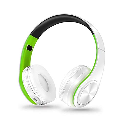 Bluetooth Headphones Over Ear Stereo Wireless Headset Soft Leather...