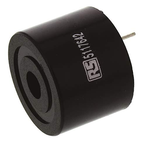 RS PRO Piezo Buzzer Dauerton 80dB, Maximal 12 V dc, Durchsteckmontage