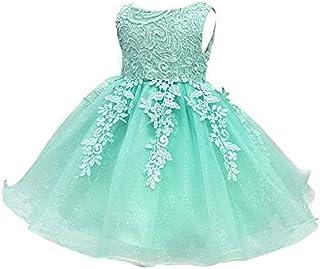 0bb45f64070e8 YFCH Enfant Fille Robe de Cérémonie sans Manches Broderie Robe de Bal  Princesse Pageant en Mousseline