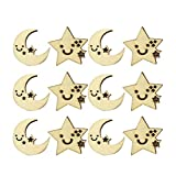 Amarillo Amosfun 100 Piezas de Madera de Abeja sin Acabado Recortes de Madera de Abeja Adornos para Suministros de Manualidades Bricolaje