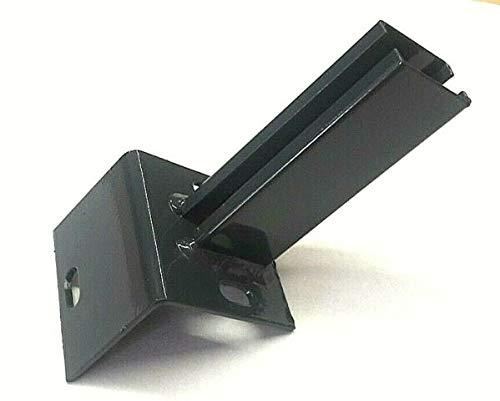 Winkel Bodenplatte Fußplatte Adapter Anthrazit Doppelstabmattenzaun Zaunpfosten Zubehör