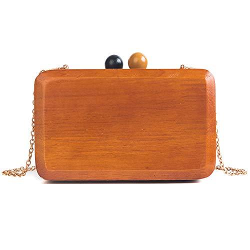 SAOGA Chain kleine tas persoonlijkheid enkele schouder diagonaal pakket vrouwelijke retro houten tofu mini box tas map kleine tas