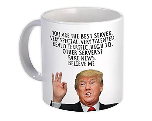 SERVIDOR Funny Trump : Regalo Jarra : Mejores trabajos de Navidad de cumpleaños de SERVIDOR