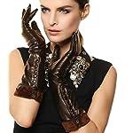 Women's Touchscreen Long Elbow Length Winter Thick Fleece Lined Gloves Buttons Touchscreen 5