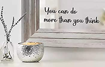 You can do More Than You Think Quote Mirror Decal Inspirational Mirror Decor Black Gloss Vinyl Wall Stickers for Home   9 x3   MAZ-375