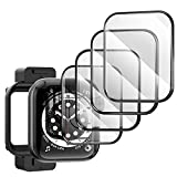 TAURI Pantalla Protector para Apple Watch 40mm Series 6/5/4/SE, (4 Pack) 3D Curvo Bordes Completo Cobertura HD Protectora Película para iWatch Series 6/5/4/SE 44mm[Sin Burbujas][Fácil Instalación]