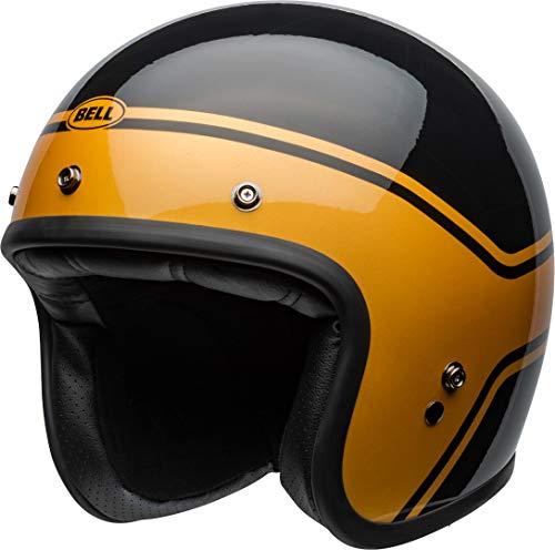 BELL HELMET CUSTOM 500 DLX STREAK GLOSS BLACK/GOLD M