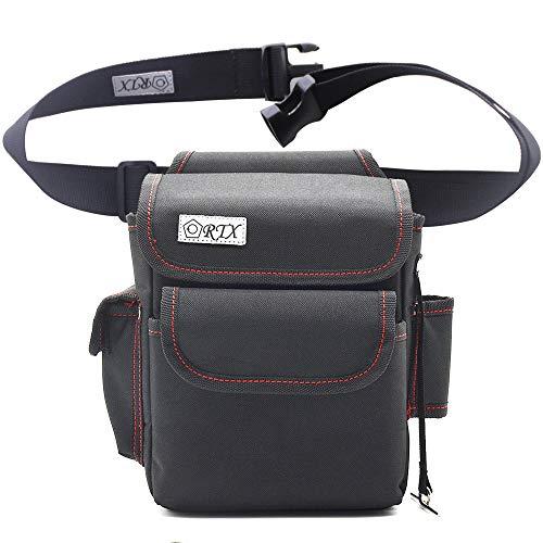 腰袋 釘袋 電工腰袋 フタ付き ベルト付き 工具差し入れ ホルダー付 超頑丈 テープフッカー付
