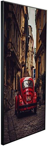 Ecowelle Infrarotheizung mit Bild | 1200 Watt | 120x60x2cm | Infrarot Heizung| | Made in Germany| d 137 Auto in Einer kleinen Straße