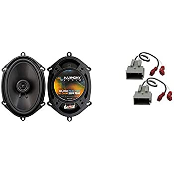 Amazon Com Compatible With Ford Expedition 1997 1998 Front Door Factory Replacement Speakers Harmony Ha R68 New Car Electronics