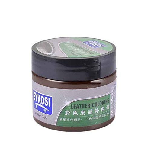 VNEIRW Repair Ledercreme, Leder Renoviert Beschichtung Paste Pflegemittel Farbe Reparatur Paste Lanolin Komplementärfarbe Creme (Kaffee)