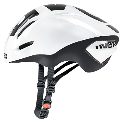 Uvex Edaero Casco de Ciclismo, Unisex Adulto, Blanco/Negro, 53-58 cm