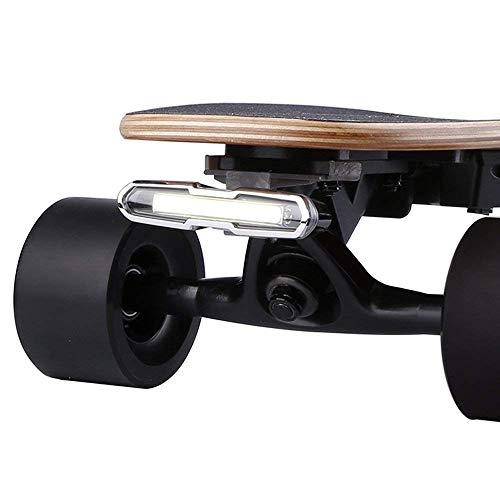 WONDERHOO Skateboard-Lichter – Neuer Upgrade-USB-aufladbarer LED-Sicherheitsscheinwerfer oder Rücklichter, passt auf jedes Longboard, Fahrrad, Roller