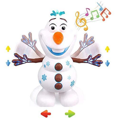LINPING Juguete de muñeco de Nieve de música de Baile eléctrico