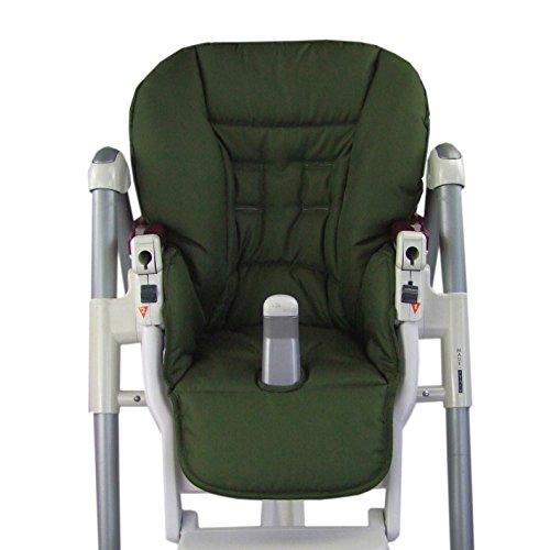 BambiniWelt Cojín de asiento, funda de repuesto para trona Peg Perego Prima Pappa Diner, 9colores verde oliva