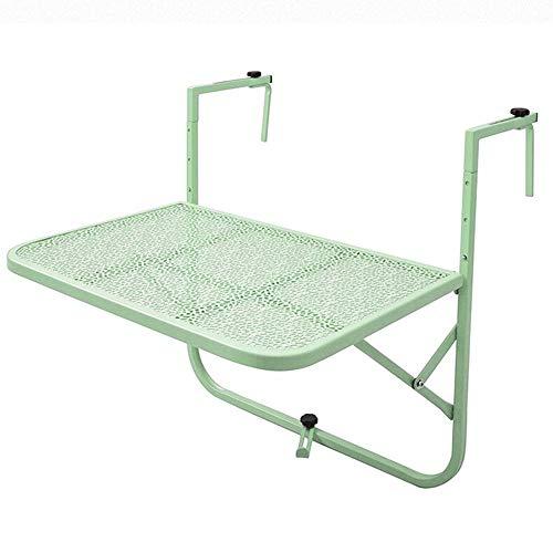 Klapptisch verstellbar Hängender Tisch/Höhenverstellbar/Balkon Hängender Tisch/Outdoor Eisen Art 60 * 40CM Kann gedreht Werden (Farbe: D)