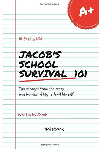 Jacob's School Survival Lol Best in USA Notebook Journal 120 Lined pages 6x9 (Notebook name, Band 1)