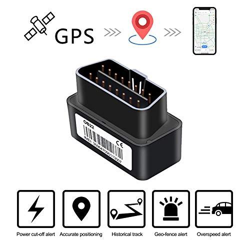 Lncoon OBD Traceur GPS Plug & Play, Mini GPS Tracker pour Voiture avec Charge Gratuite, Alertes Multiples (Geo-Fence, Plug Out .), Détection ACC, Gestion de Flotte - Plate-Forme Gratuite d'un an