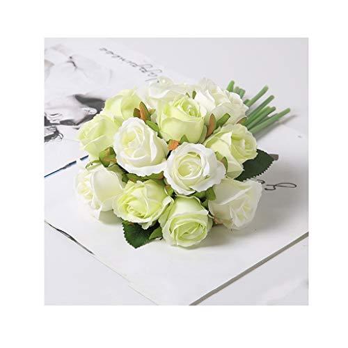 CAIM-Artificial flower 12 Köpfe Simulation Künstliche Blumen Rose Gefälschte Blumen Blumenschmuck Tisch Hochzeit Braut Mit Blumenstrauß (Color : I)