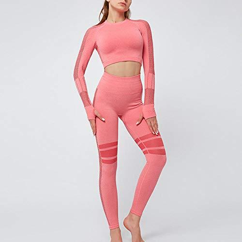 Rrui Panty voor dames, met open navel, stretch spandex, sneldrogend, korte broek, nauwsluitende sportkleding, sexy spandex, yoga, shirt, grijs, maat M.